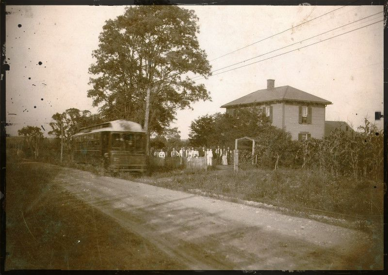 Franklin Township Interurban Near Briggsdale