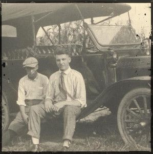 Grove City, OH - Two Men, Old Car