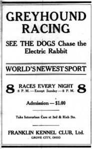 Grove City Greyhound Racing Ad