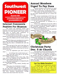 Southwest Pioneer December 2017 Cover