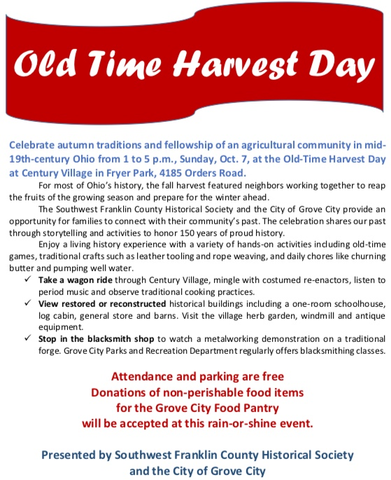 Old Time Harvest Day 2018 - Grove City, Ohio