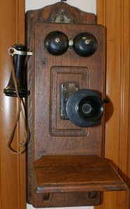 Grove City Museum Wall Phone with Crank