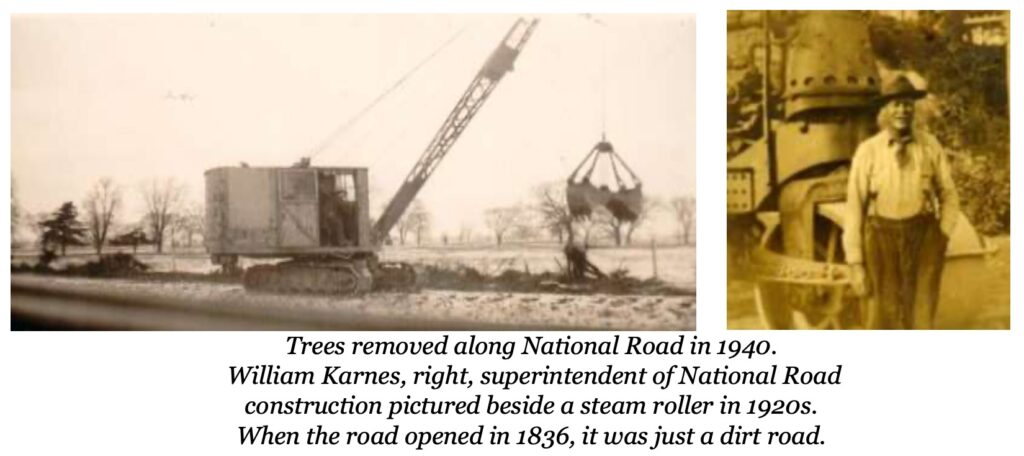 1940 National Road New Rome clearing trees