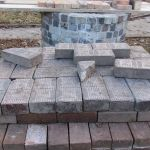 A stack of original bricks near the Grant Homestead House