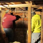 Working in the basement of the Grant-Sawyer Home - Grove City, OH
