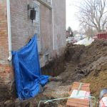 Restoring the foundation of the Grant-Sawyer Home - Grove City, OH