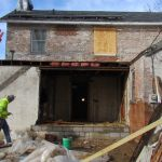 A view of the construction at the Grant-Sawyer Home - Grove City, OH