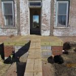 Front of the Grant Homestead House under construction - Grove City, OH