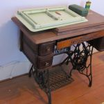 A Singer Sewing Machine desk inside the Grant Homestead House