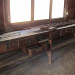 Inside the lean to of the Grant Homestead Carriage Building - Grove City, OH