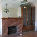 A fireplace inside the Grant Homestead House - Grove City, OH