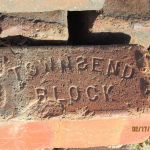 An original brick from the Grant-Sawyer Home