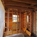 Installing new framing at the Grant-Sawyer Home
