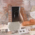 Rebuilding the cellar entrance at the Grant Homestead House