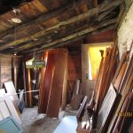 Storage and staging area at Grant Homestead renovation site