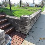 Front wall repairs at the Grant Homestead